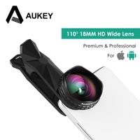 AUKEY Lens Optic Pro Phone Lens 18MM HD Wide Angle Cell Phone Camera Lens Kit 2X
