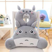 Japan Anime Totoro Plush U Shaped Soft Pillow Comfort Totoro Plush U Neckpillow Waist Pillow Family