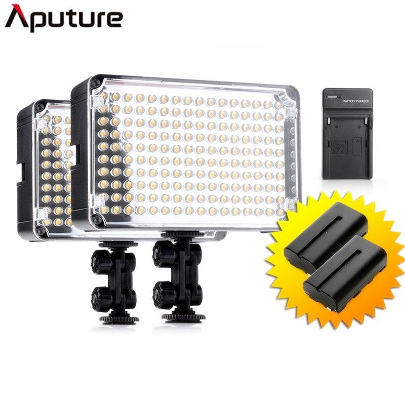 Free DHL delivery 2pcs/lot Aputure AL-H160 CRI95+ 160 LED Video Studio Light Photography Lighting + NP-F550 Battery+Charger цена