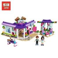 Lepin 01060 Genuine Girl Series The Emma's Art Cafe Model Building Blocks Bricks Educational Kids Toys Gifts LegoINGlys 41336