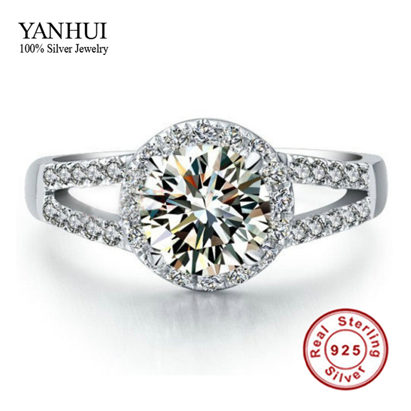 Lose Money Promotion!!! 100% Solid 925 Sterling Silver Ring Inlay 2 Carat CZ Diamant Engagement Wedding Rings For Women JZR047 big promotion 100% original 925 silver wedding rings for women natural solitaire 6mm cz diamant engagement rings jewelry rj003