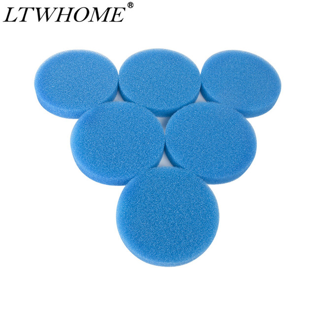 LTWHOME-6 tampons filtres compatibles | En mousse brute, adaptés aux Eheim Classic 600 2217