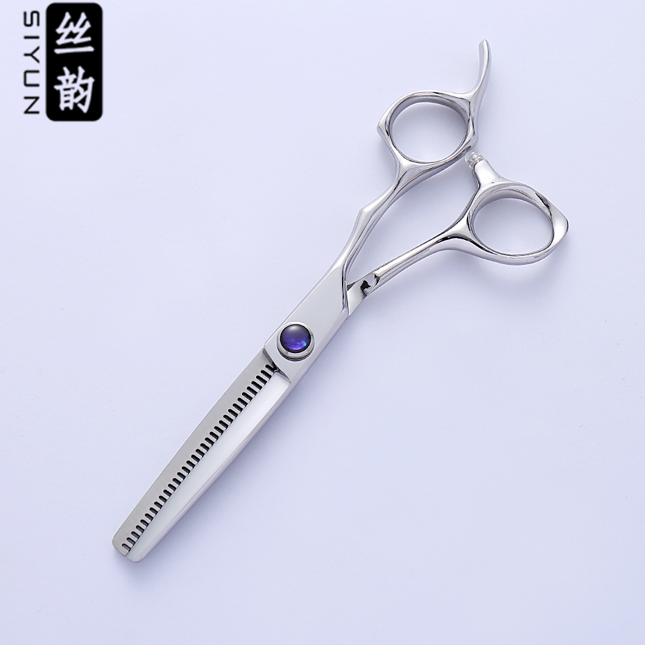 SI YUN 6 0inch 17 00cm length ES60 model thinning type of scissors for hairdressing