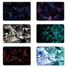 Diamond Glass Crystal Geometric Cool Designs Nature Rubber Table Mouse Pad Laptop Computer Enclosure Mousepad Mat(China)