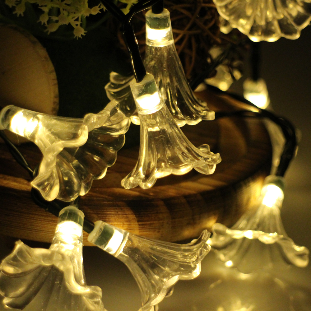 6 M 30 Pcs Led Tanduk Pesta Peri Lampu Baterai Dioperasikan Lotus E Elegant Biru Pohon Tirai Pintu Magnet Anti Nyamuk Dipimpin Tali Untuk Pernikahan Xmas Party Luar Ruangan Dekorasi