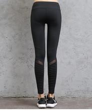 Women Pleated Mesh Trousers Sports Leggings