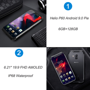 "Image 2 - Blackview BV9600 פרו IP68 עמיד למים נייד טלפון Helio P60 6GB + 128GB 6.21 ""19:9 AMOLED 5580mAh אנדרואיד 9.0 המוקשח Smartphone"