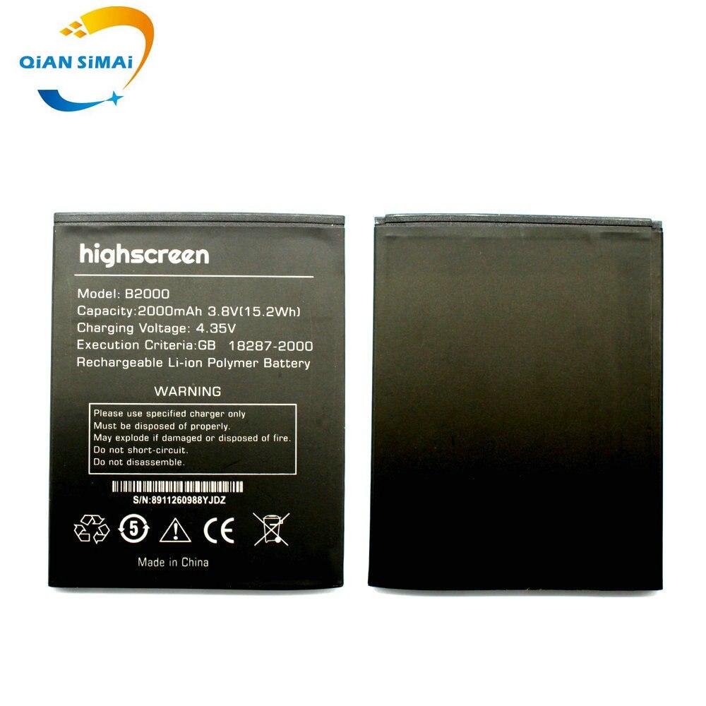 QiAN SiMAi New original High Quality 2000mAh Highscreen