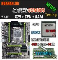HUANAN Чжи V2.49 X79 материнской LGA2011 ATX комбинации E5 1650 C2 SR0KZ 4x4G 16 GB 1333 Mhz USB3.0 SATA3 PCI E NVME M.2 SSD