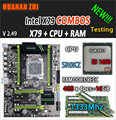 HUANAN ZHI V2.49 X79 moederbord LGA2011 ATX combo E5 1650 C2 SR0KZ 4x4G 16 GB 1333 Mhz USB3.0 SATA3 PCI-E NVME M.2 SSD