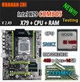 HUANAN ZHI V2.49 X79 placa base LGA2011 ATX combos E5 1650 C2 SR0KZ 4x4G 16 GB 1333 Mhz USB3.0 SATA3 PCI-E NVME M.2 SSD