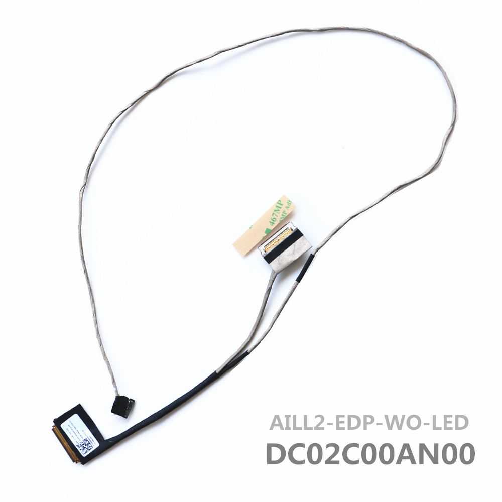 New AILL2 DC02C00AN00 Cable For Lenovo Yoga 260 Lcd Lvds Cable new original for lenovo thinkpad yoga 260 bottom base cover lower case black 00ht414 01ax900