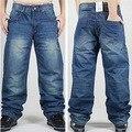 2016 hombres de la marca Baggy Jeans Denim lavado suelto Jeans Men Hip Hop Jeans infantil chicos vaqueros ocasionales monopatín Relaxed Fit Mens del Harem de los pantalones