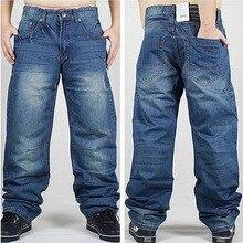 2017 marke Männer Baggy-Jeans Denim Lose Waschen Jeans Männer Hip hop jeans jungen casual skateboard entspannt fit jeans herren pluderhosen