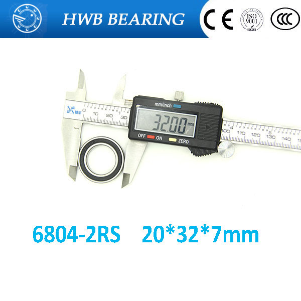 Free shipping 2Pcs 6804-2RS 6804RS 6804 2RS 20*32*7mm Deep Groove Ball Bearings 20 x 32 x 7mm for bicycle part High Quality 5pcs 6201 2rs 6201rs 6201rs 6201 rs deep groove ball bearings 12 x 32 x 10mm free shipping high quality