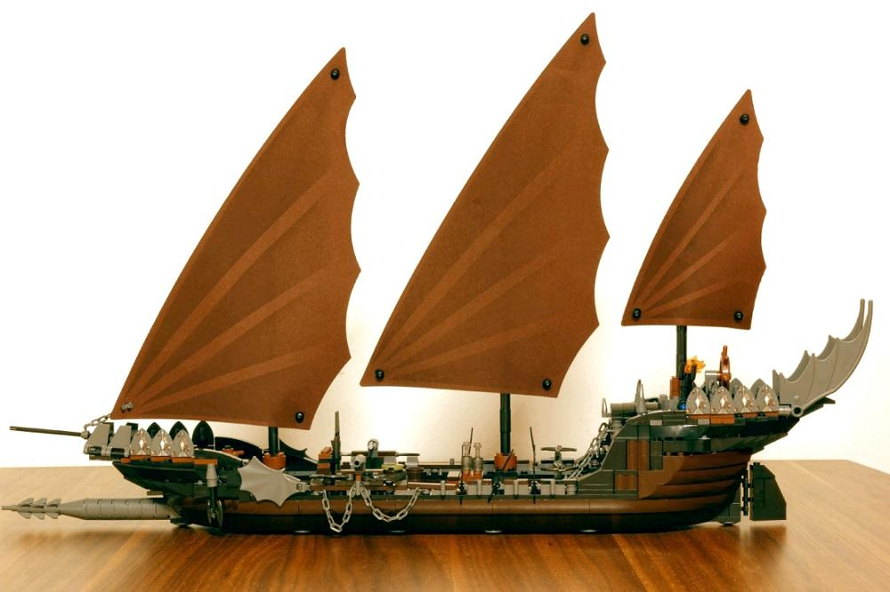 16018 756Pcs The Lord of the Rings Pirate Ship Ambush Model 79008 Building Block Brick Toy Compatible legoe kid gift set susengo pirate model toy pirate ship 857pcs building block large vessels figures kids children gift compatible with lepin