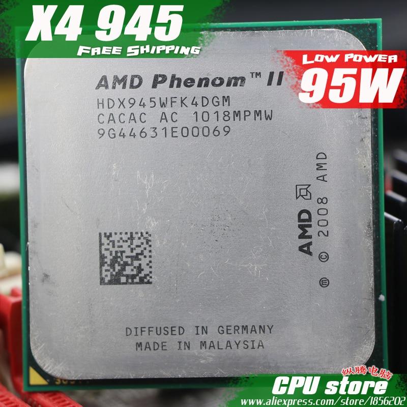 AMD Phenom II  X4 945 CPU Processor Quad-Core (3.0Ghz 6M 95W )Socket AM3 AM2+ 938 pin (working 100% Free Shipping)