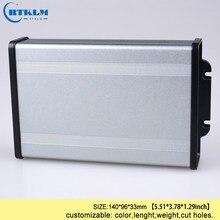 Z tworzywa sztucznego ABS aluminiowa obudowa dla projekt elektroniki box diy druciana skrzynka przyłączeniowa wytłaczanie aluminium obudowa oprzyrządowania 140*96*33mm