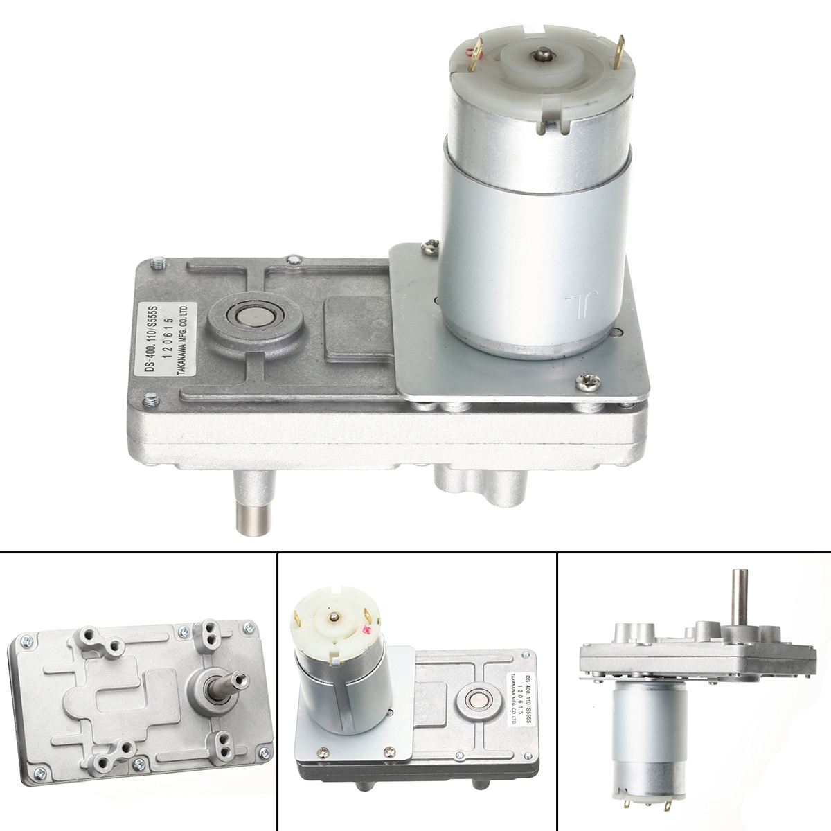 High Quality Reduction Gear Motor DC Motor <font><b>RS</b></font>-<font><b>555</b></font> Takanawa <font><b>555</b></font> Gear Motor Metal 12V-24V DC 2.5A High Torque Low Noise image