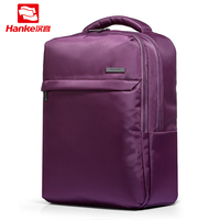 Hanke Men& Women Laptop Backpack 14 inch Notebook Computer Bags Black & Purple Nylon Travel Rucksack School Bag for Teenagers