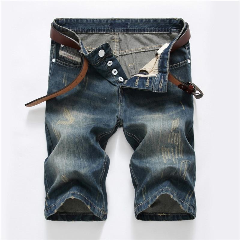 Moda de nova Mens Short Jeans Estilo Shorts de Algodão Verão Fino Respirável Shorts Jeans Homens Jeans Plus Size 28 Fashionelastic- 40