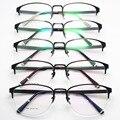 La moda de Nueva Patrón Restaurar Maneras Gafas de Marco Hombres Y Fondo de Luz Se Exceden Marco Miopía Gafas de Montura de gafas de Metal Medio