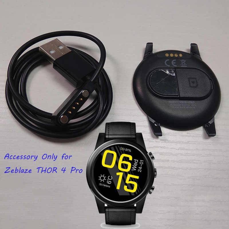 Montre de secours originale montre intelligente accessoire sangle/chargeur/couverture arrière/batterie Zeblaze Thor 4 pièces de montre pro