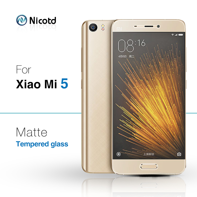Nicotd Tempered-Glass Screen-Protector Xiaomi Film Matte 9H Mi5 No For Xiaomi/Mi-5/No-fingerprint