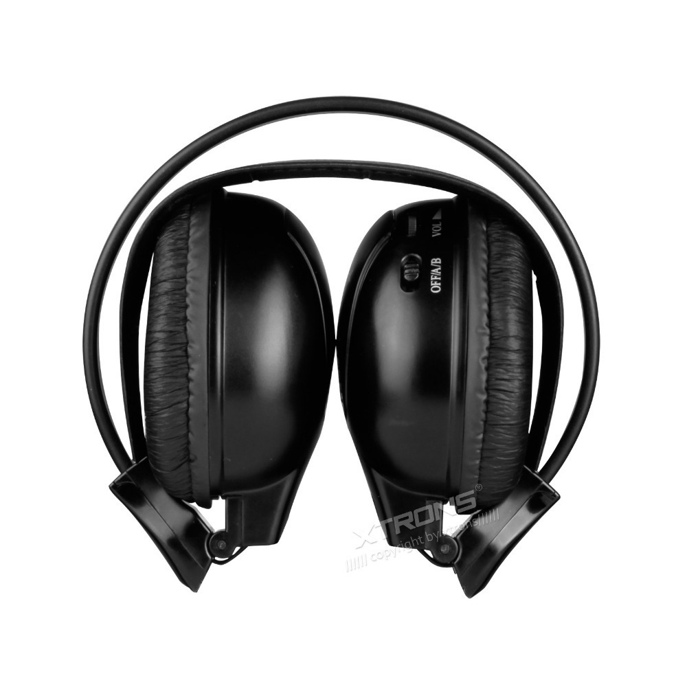 ФОТО  Infrared Stereo Wireless Headphones Dual channel IR Cordless Headsets for Car roof DVD or Headrest DVD player