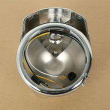 """Motorcycle 5.75"""" 5 3/4"""" Chrome Headlight Housing Bucket For Harley Electra Glide Bad Boy"""