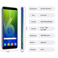 "cell phone screen DUODUOGO J6+ Mobile Phone Android 2GB RAM 16GB ROM 6.0"" HD Screen Dual Sim 4800mAh celular Smartphone Unlocked Cell Phones (3)"