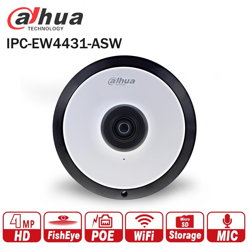 все цены на Dahua IPC-EW4431-ASW 4MP Panorama POE WIFI Fisheye IP Camera built-in MIC SD card slot Audio Alarm Interface DH-IPC-EW4431-ASW онлайн
