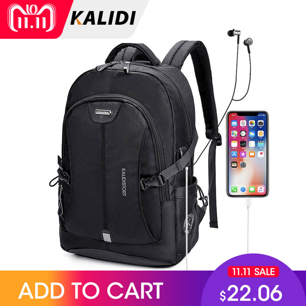 KALIDI Waterproof Laptop Bag 15-17 inch Notebook Bag 15.6 inch Computer Bag 17.3 Inch Macbook Air Pro Dell HP Bag For Women Men kalidi waterproof laptop bag 15 6 17 3 inch women men notebook bag 15 17 inch computer bag usb for macbook air pro dell hp bag