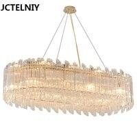 Post Modern Crystal Chandeliers Modern Simple Living Room Bedroom Lights Light Design Gold LED New Restaurant