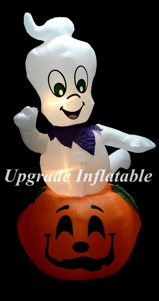 light up ghost on pumpkin outdoor inflatable halloween decorations for sale