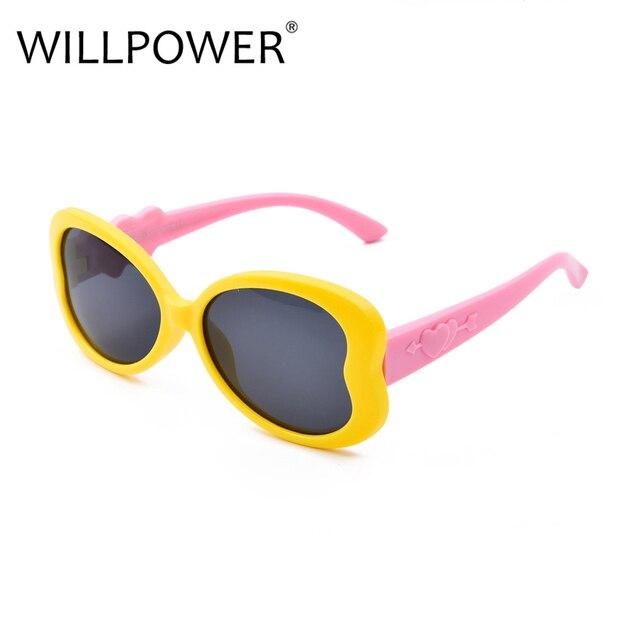 eb426109e3 WILLPOWER Polarized Brand Designer Plastic Frame Kids Goggles UV400 Love  Heart Shaped Sunglasses For Girls PK-136
