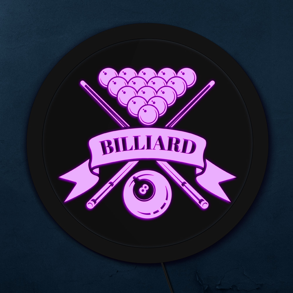 Billiard Accessories 8 Ball Colorful LED Neon Sign Billiard Room Poolroom Personalised Logo Snooker Business Lighting Wall Art