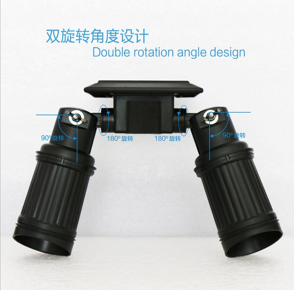 Security Garden Light Motion Sensor Solar Light 360 Rotation 14*LED Dim-mode Outdoor Waterproof PIR Wall Mount Street Light
