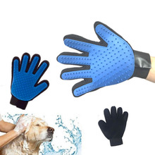 Grooming Glove for Cats Soft Silicone Dog Bath Massage Cat Glove for Wool Pet Shedding Grooming Gloves Carding Cat Guante Gato Шерсть
