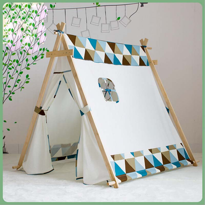 lovely chiristmas present child tent white fabric teepee children bed tent indoor children paly. Black Bedroom Furniture Sets. Home Design Ideas
