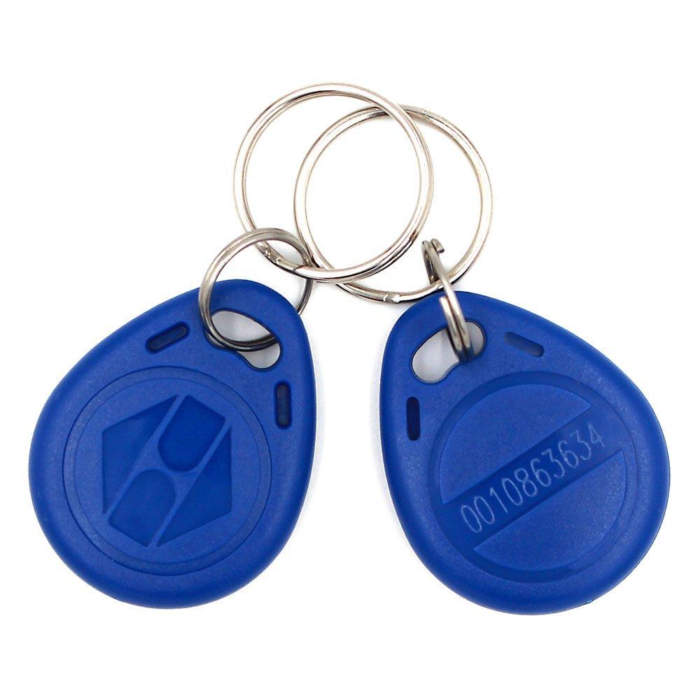 20 Pezzi EM4100 Portachiavi 125 KHz RFID ABS Portachiavi Tag di Sola Lettura, Colore blu RFID Token di Controllo di Accesso Key Card Per Porte Armadio