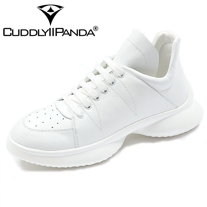CUDDLYIIPANDA 2018 Men High Board Shoes Summer Fashion Breathable Students Board Shoes Men Walking Shoes New Platform Tennis