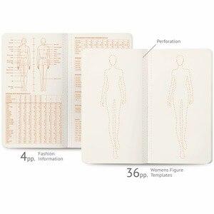 Image 2 - 3Pcs/Lot Womens Mini Neon Light Sketch Book Fashion Illustration Templates Fahion Model Templates for Beginners