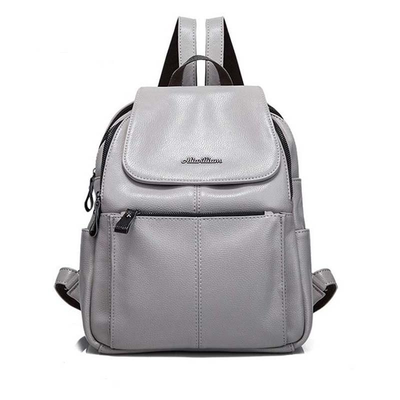2017 Women Backpack New Fashion Genuine Leather Bag Anti Theft Backpacks Laptop Backpack Women School Bags For Teenage Girls pabojoe women mens school backpack italian 100% genuine leather fashion book bag college daypack black fit 15inch laptop
