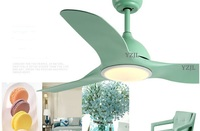 Fan with lights LED Creative minimalist fashion fan chandelier lamp dining room fan lamp fan chandelier home bedroom