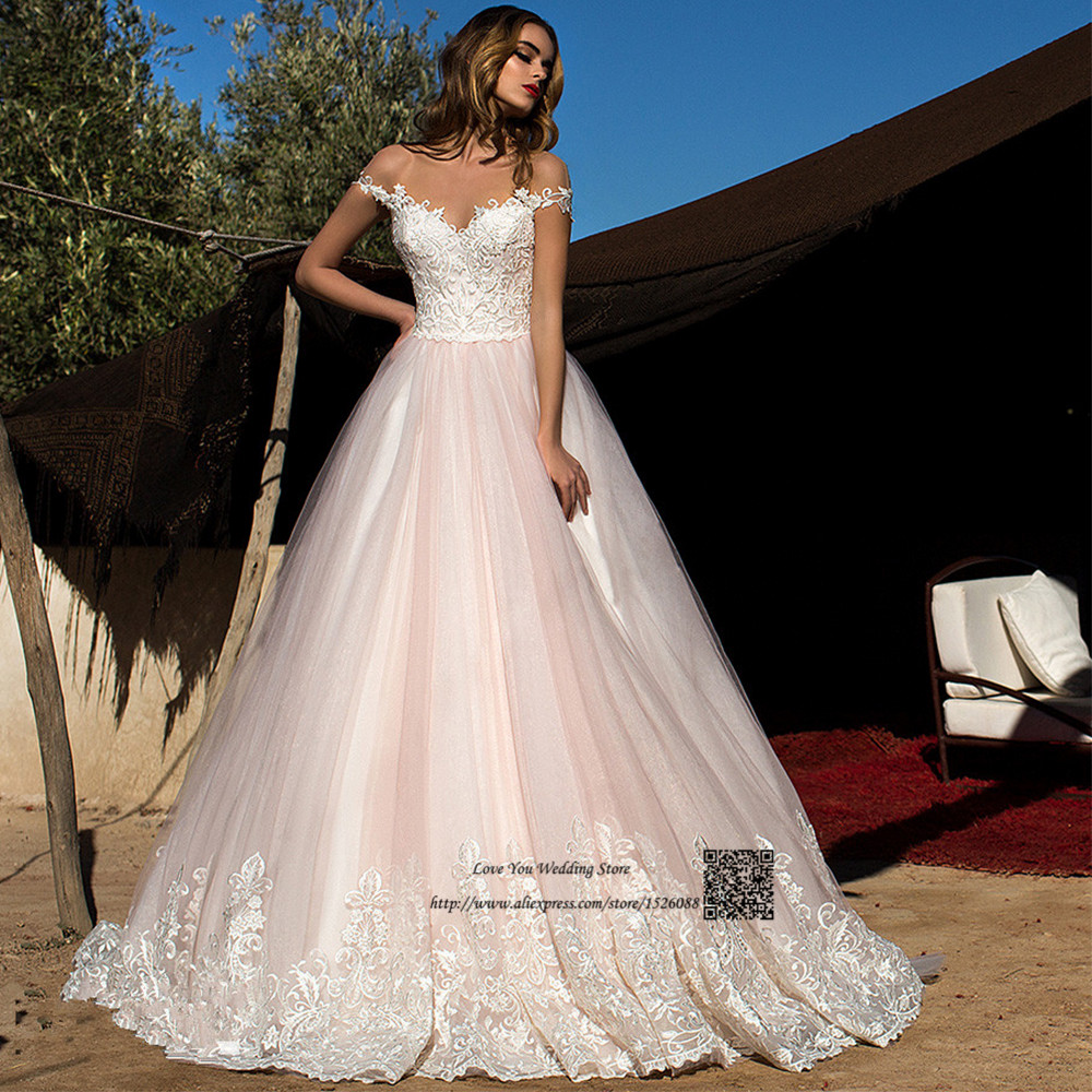 Custom made blush pink greek wedding dress plus size lace for Princess plus size wedding dresses