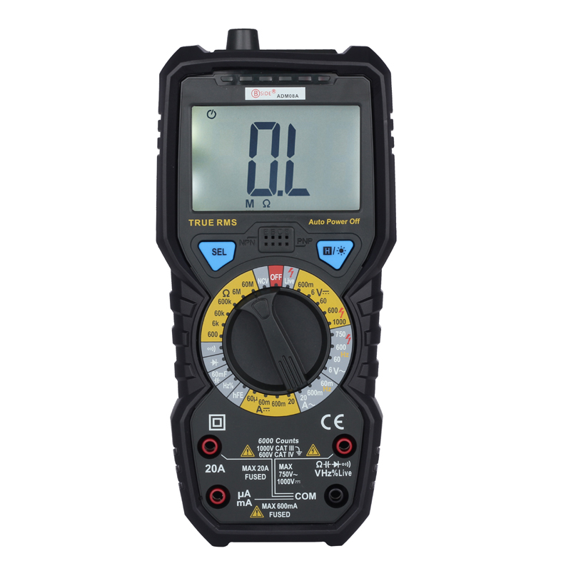 6000 Counts True RMS Digital Multimeter BSIDE ADM08A Auto Range LCD Display Multimeter With Capacitance Frequency Diode NCV Test  цены
