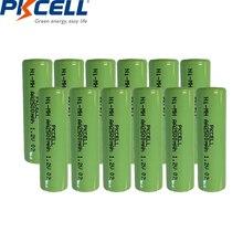 12 adet NIMH AA şarj edilebilir pil 1.2v 2500mah sanayi paketi düz üst, olmayan PCM,
