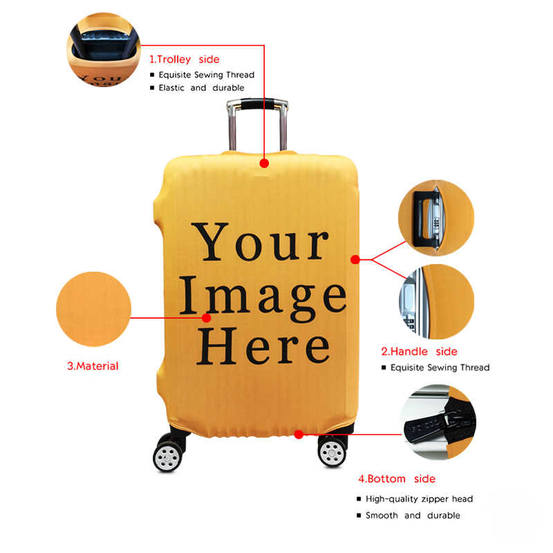 Mapa do mundo/animal print grosso Acessórios elástico tampa mala de Viagem cobertura de bagagem Trolley de viagem Capa protetora Capas