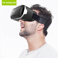Hot 2016 Google Cardboard VR Shinecon Pro Version VR Virtual Reality 3D Glasses Smart Bluetooth Wireless
